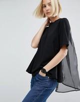 Asos Organza Cape Back T-Shirt