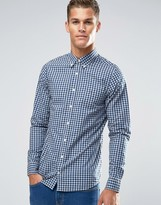 Tommy Hilfiger Shirt With Gingham Check In Slim Fit Navy