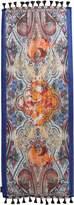 Etro Paisley Linen & Silk Scarf W/ Tassels