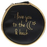 Charlotte Women's Round PU Travel Jewelry Case To The Moon & Back-Black