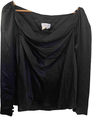 Saint Laurent Black Silk Tops