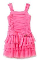 Amy Byer Girls' 4-6X Pink Sleeveless Drop Waist Dress