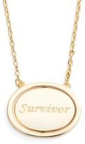 Lulu DK Women's Survivor Spinning Pendant Necklace
