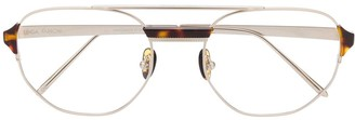 Linda Farrow Angular Aviator Sunglasses