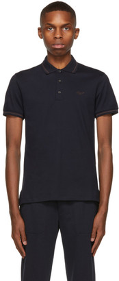 Ermenegildo Zegna Navy Stretch Cotton Polo