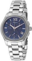 Salvatore Ferragamo 43mm Lungarno Men's Chronograph Bracelet Watch, Silver/Blue