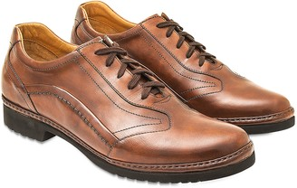 Pakerson Tan Italian Handmade Leather Lace-up Shoes