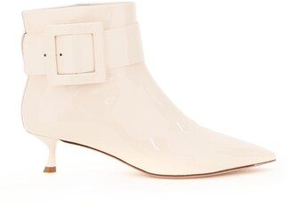 Roger Vivier Pointed Toe Buckle Ankle Boots