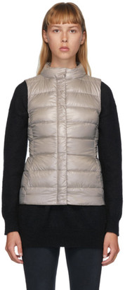 Herno Beige Down Fitted Vest