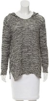 Enza Costa Hooded Knit Sweater