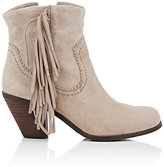 Fringed Suede Ankle Boots - ShopStyle