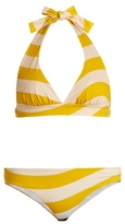 Fendi Striped halterneck bikini
