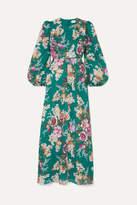 Zimmermann Allia Floral-print Linen Maxi Dress - Emerald
