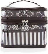 Henri Bendel Brown & White 4 Piece Cosmetic Bag Set