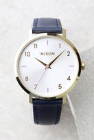 Nixon Arrow Grey and Navy Leather Watch