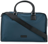 Cerruti trim detail weekender bag - men - Calf Leather/Nylon - One Size
