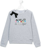 Simonetta Beyoutiful sweatshirt - kids - Cotton/Spandex/Elastane - 14 yrs
