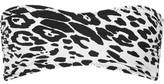 Norma Kamali Sunglass Leopard-Print Bandeau Bikini Top
