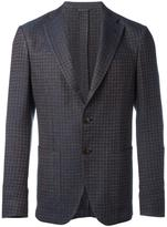 Etro houndstooth pattern blazer - men - Silk/Cotton/Linen/Flax/Cupro - 50