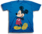 Freeze Mickie Mouse Royal Typography Tee - Boys