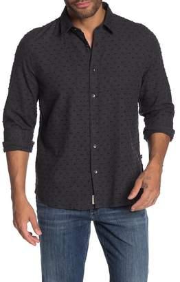 Civil Society Dover Long Sleeve Embroidered Polka Dot Sport Shirt