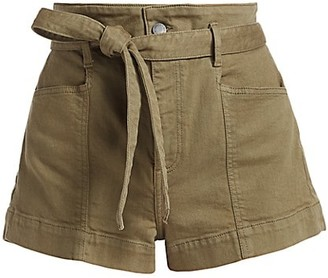 Alice + Olivia Jeans Amazing High-Rise Belted Shorts