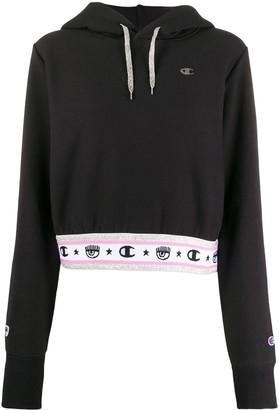 Chiara Ferragni x Champion logo trim hoodie