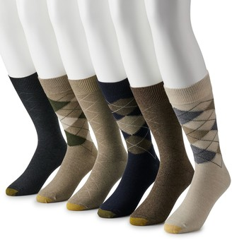 Gold Toe Men's GOLDTOE 6-pack Cambell Argyle Crew Socks
