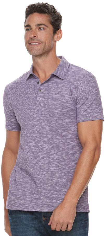 Marc Anthony Men's Slim-Fit Shadow Dye Marled Polo