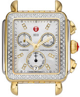 Michele 'Deco Diamond' Diamond Dial Two-Tone Watch Case, 33mm x 35mm