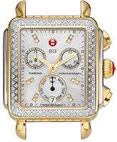 Michele Women's Deco Diamond Diamond Dial Two-Tone Watch Case, 33Mm X 35Mm