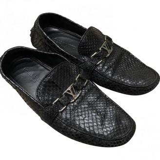 Louis Vuitton Black Crocodile Flats