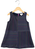 Lisa Perry Girls' Striped Crew Neck Dress