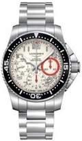 Longines Men's 41mm Steel Bracelet & Case S. Sapphire Automatic White Dial Chronograph Watch L36964136