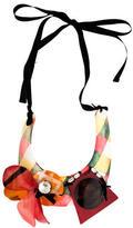 Marni Horn & Crystal Collar Necklace