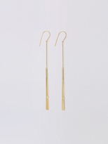 Diane von Furstenberg Gold with Crystal Mismatched Earrings