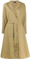 Roberto Collina Tie Waist Trench Coat
