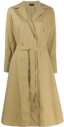 Roberto Collina Tie Waist Trench Coat