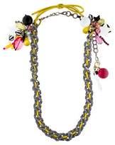 Erickson Beamon Multicharm Chain Necklace