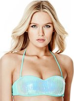 GUESS Sequin Bandeau Bikini Top
