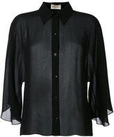 Saint Laurent semi-sheer cropped shirt