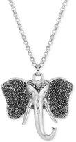 Lucky Brand in Silver-Tone Pavé Elephant Pendant Necklace
