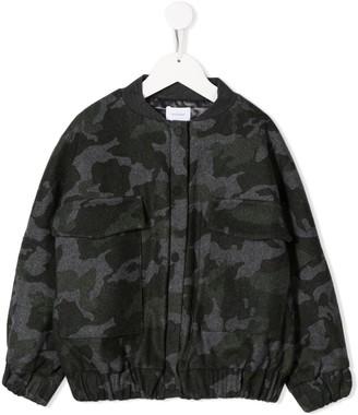 Unlabel camouflage print bomber jacket