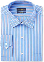 Club Room Men's Classic/Regular Fit French Blue Lilac Stripe Dress Shirt, Created for Macy's