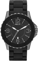JCPenney RELIC Relic Mens Black Silicone Wrapped Stainless Steel Watch ZR12092