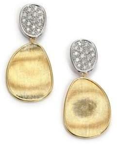 Marco Bicego Lunaria Diamond& 18K Yellow Gold Small Drop Earrings