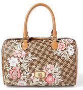 Lauren Ralph Lauren Dobson Collection Floral Barrel Satchel