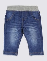 Marks and Spencer Cotton Pull On Denim Jeans with Stretch