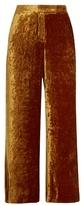 A.L.C. Robbie cropped wide-leg velvet trousers