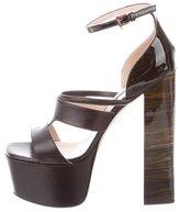 Ruthie Davis Hybrid Leather Platform Sandals